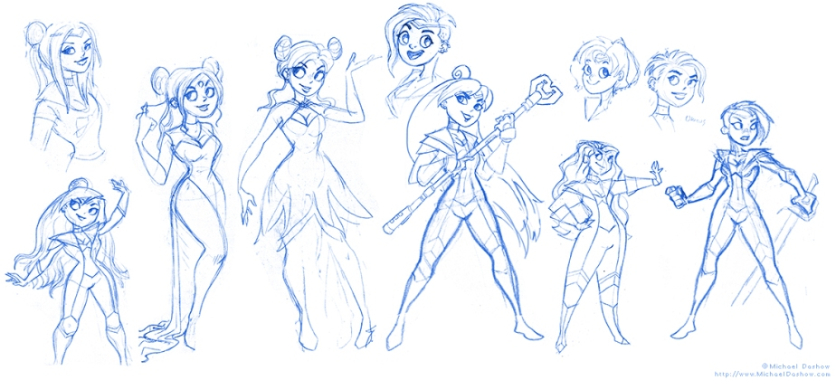 Sailor Moon WIP sketches